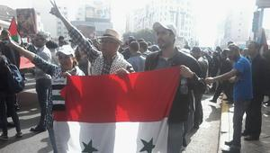 مناوشات في مسيرة بالمغرب بسبب الموضوع السوري