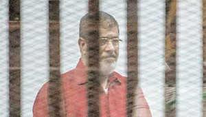 """مرسي يتغيب عن محكمة """"التخابر مع قطر"""" بسبب العاصفة"""