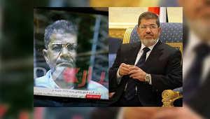 الصورتان كما عرضتهما ابنة مرسي على صفحتها بموقع فيسبوك
