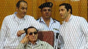 مصر.. السجن المشدد 3 سنوات لمبارك و4 لنجليه بقضية قصور الرئاسة