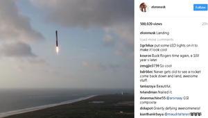 """شاهد كيف حطّ صاروخ """"سبيس إكس"""" بعد مهمته للاستخبارات الأمريكية"""