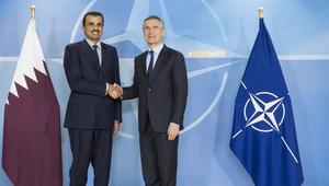 """قطر توقّع اتفاقية تسمح بـ""""دخول ومرور"""" قوات الناتو لأراضيها واستخدام قاعدة العديد"""