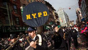 جانب من موكب عسكري شاركت فيه شرطة نيويورك