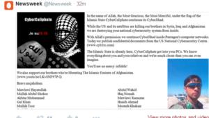 """قراصنة """"الخلافة"""" المقربون من داعش يخترقون حسابات تلفزيونات ومجلات أمريكية ويهددون زوجة أوباما و""""الكفار"""""""
