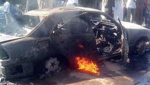 انفجار سيارة أدى إلى مصرع 14 شخصا في نجيريا خلال احتفالات للمسلمين بالمولد النبوي في 14 يناير/ كانون الثاني 2014