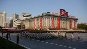 استعراض لجيش كوريا الشمالية في بيونغ يانغ