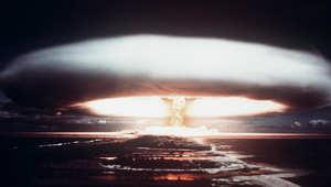 صورة ارشيفية لتجربة نووية فرنسية بالمحيط الهادئ