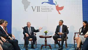 قمة تاريخية تجمع أوباما وكاسترو في بنما تمهد لفتح صفحة جديدة بين أمريكا وكوبا