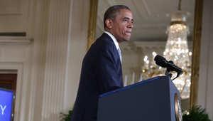 أوباما: جميع الخيارات مفتوحة للتعامل مع التطورات الأمنية بالعراق