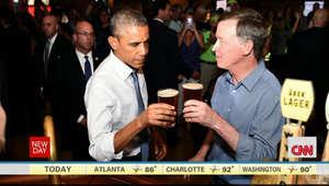 قضى الرئيس الأمريكي امسيته مع بعض مواطني دينفر