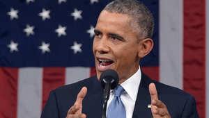 الرئيس الأمريكي باراك أوباما خلال إلقائه الخطاب