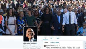 صورة لحساب الرئيس الأمريكي باراك أوباما الشخصي على موقع تويتر