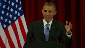 الرئيس أوباما أثناء زيارته لماليزيا