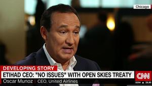 مدير طيران يونايتد الأمريكي لـCNN: سنفتح مع ترامب ملف شركات طيران الخليج