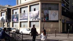 جدار بيت الصحفيين في باريس