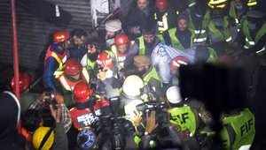 باكستان: حريق هائل بأحد المراكز التجارية في لاهور يخلف عشرات الضحايا