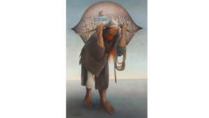 """لوحة """"جمل المحامل 2"""" للفنان الفلسطيني سليمان منصور في مزاد علني بدبي قريباً"""