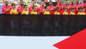 من مباراة المنتخبين الفلسطيني والأردني