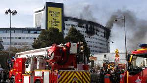 حريق هائل بمبنى الإذاعة الفرنسية وسط باريس ولا أنباء عن ضحايا