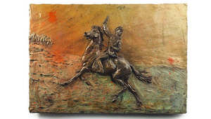 من ركوب الخيول لرسمها ونحتها.. بلاكر عاشق الفروسية الشهير