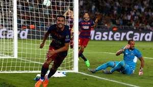 برشلونة يفوز بلقب السوبر الأوروبي ويبصم على رباعية تاريخية في موسم واحد