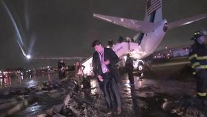 إنزلاق طائرة بينيس على المدرج
