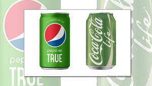 تحتوي مشروبات الشركتين على مادة ستيفيا الطبيعية