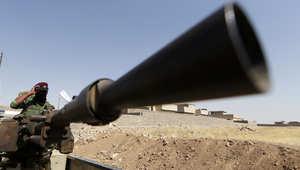 صورة لمقاتل من البيشمركة جنوب إربيل