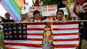 احتجاجات تطالب بطرد القوات الأمريكية من الفلبين