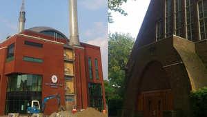 هذا المبنى كان لكنيسة في مدينة أوترخت بهولندا قام أتراك بشرائه وتحويله الى مسجد