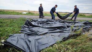 جثث ضحايا الطائرة الماليزية في أوكرانيا