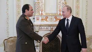 الرئيسان المصري والروسي خلال اجتماع سابق