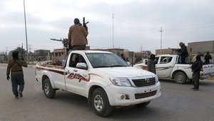 صورة ارشيفية لعناصر مسلحة في مدينة الرماي