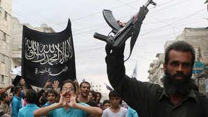 صورة أرشيفية لمظاهرة مؤيدة لجبهة النصرة شمال سوريا