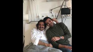 الملك سلمان يتصل بالأمير حمد بن خليفة بعد نشر العائلة القطرية صوره بالمستشفى عقب كسر برجله