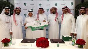 بعد قطع العلاقات مع قطر.. الأهلي السعودي يفسخ عقد الرعاية مع الخطوط القطرية