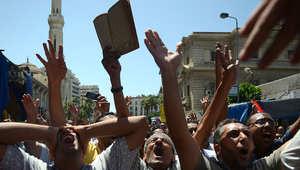 جانب من مظاهرة سابقة لمؤيدين للإخوان المسلمين
