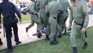 الأمن المغربي يفرّق بالقوة وقفة تضامنية بالرباط مع معتقلي الريف