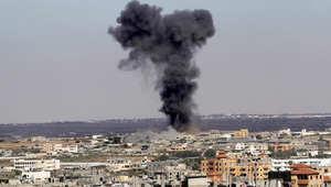 الدخان يتصاعد من رفح بعد غارة إسرائيلية 16 يوليو/ تموز 2014