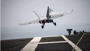 ذكر المصدر العسكري أن الحملة تقوم بها طائرات أمريكية منذ منتصف الليل