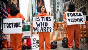 احتجاج بنيويورك للمطالبة باغلاق معتقل غوانتانامو