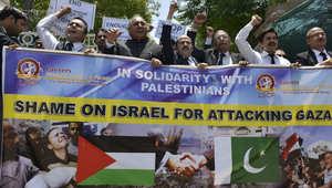 مسيرة احتجاجية نظمها محامون باكستانيون للتنديد بالعمليات الإسرائيلية