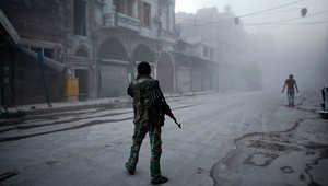 """معارك بقلب دمشق بعد تقدم للثوار.. والمعارضة ترحب بعرض أوباما تسليحها وتذكّر """"بوحشية"""" داعش والأسد"""