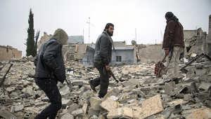 صورة ارشيفية لمقاتلي المعارضة السورية في مدينة حلب