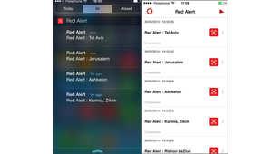 تصل التحذيرات إلى مستخدمي التطبيق عند إطلاق الصاروخ من غزة