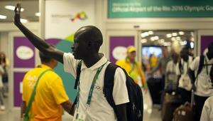 فريق اللاجئين يصل إلى ريو لتمثيل اللاجئين حول العالم