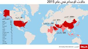 تعرف عبر الانفوجرافيك: هذه الدول ترتفع فيها عقوبات الإعدام إلى أعلى مستوياتها