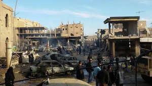 سوريا: 95 قتيلا ودمار واسع بغارات على الرقة.. والمعارضة تعتبر الأسد المستفيد الأول من التحالف الدولي