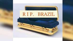 """""""فلترقدي بسلام يا برازيل"""" فيسبوكييون يعبرون عن خسارة فريق المونديال"""