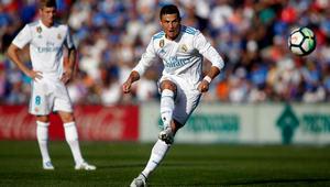 """بعد غياب لثماني جولات.. رونالدو يسجل في """"الليغا"""" ويقود ريال مدريد لفوز صعب"""